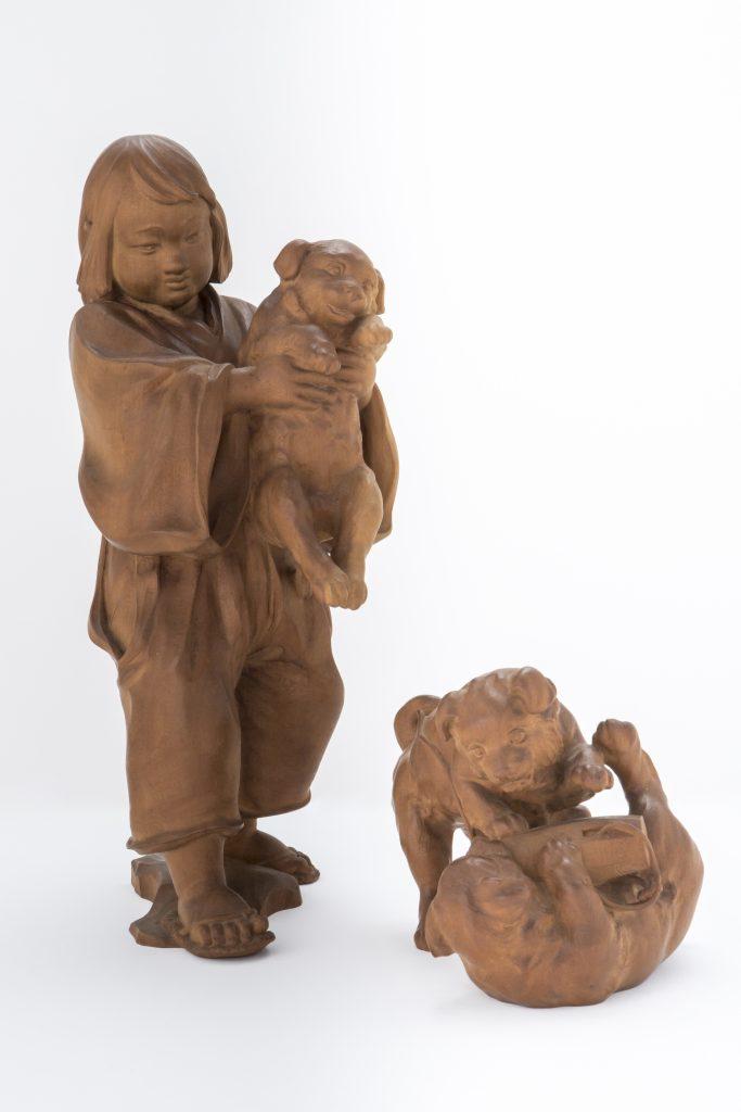 彫刻 鎌倉時代 童 山﨑朝雲