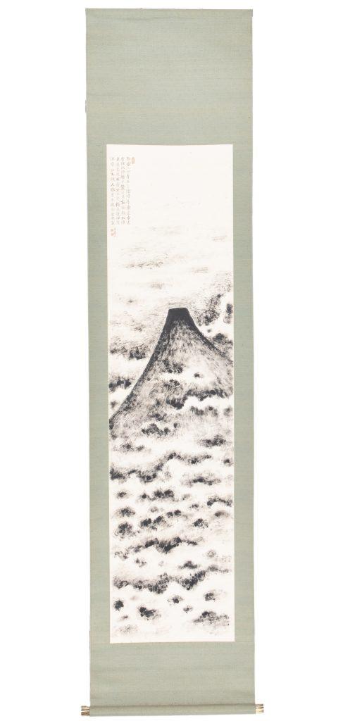 絵画 黒芙蓉 福田古道人