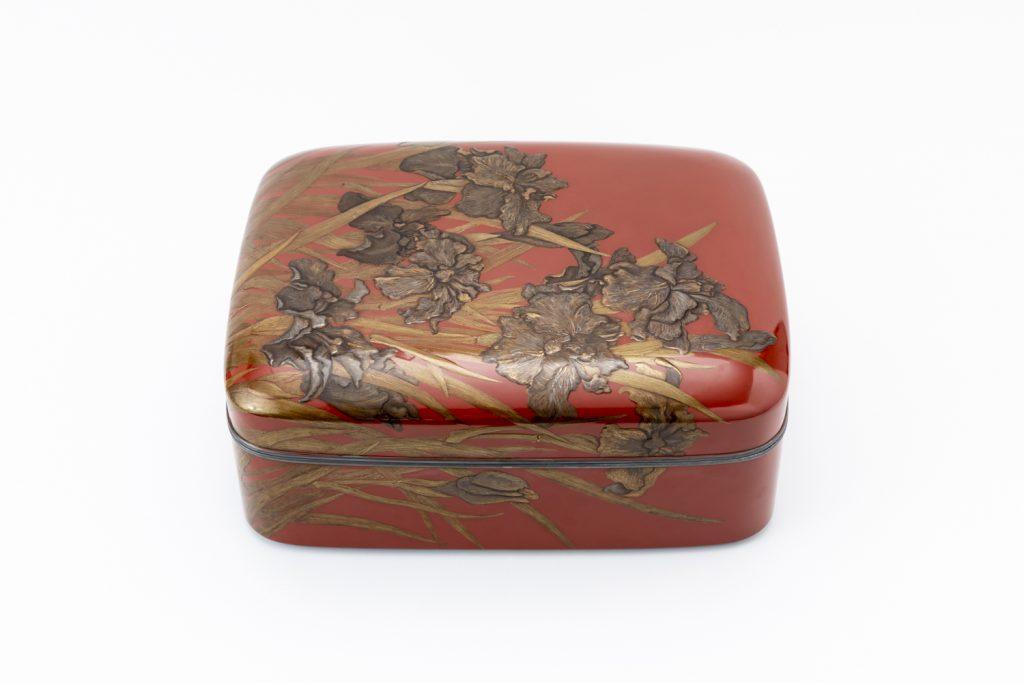 漆芸 菖蒲之圖乾漆文庫 船本汀